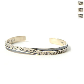 Michael Roanhorse Michael Rohan hose Navajo Contemporary Stumpwork silver bangles (all three)