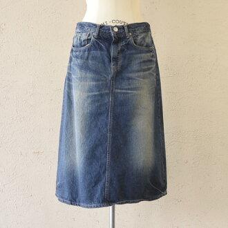 D.M.G(DMG) Domingo 12.5 oz denim 5 p A line skirt, 17-275 b 27-6 (S & M)