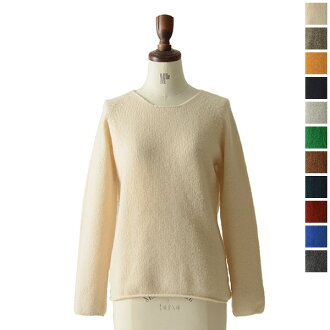 Nor ' easterly ノーイーストリー long sleeve wide neck Walnut-13-001 (12 colors) (unisex)