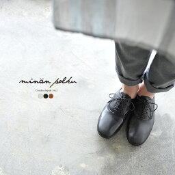 minan polku ミナンポルク soft balmoral shoes マットレザー ソフト バルモラルシューズ・M329 #0330
