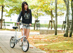 マイパラス折りたたみ自転車16インチブラック/シルバーおしゃれ折畳み自転車[M-101]【本州のみ送料無料※】【※沖縄・離島配送不可】