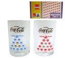 vintage EXPO 039 85×Coca-Cola Glass×2 ヴィンテージ つくば科学万博 039 85×コカコーラ コスモ星丸グラス×2脚セット (ビンテージ) 071488 【中古】
