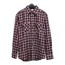 【未使用】 AVAIL アベイル 「M」 ブロックチェック ネルシャツ (しまむら) 086178 【中古】