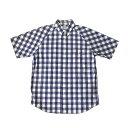 ショッピングarrows UNITED ARROWS BLUE LABEL ユナイテッドアローズブルーレーベル ブロックチェックシャツ (半袖 ブルー 青) 106784 【中古】