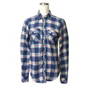 ショッピングAbercrombie Abercrombie & Fitch A&F アバクロンビー&フィッチ タータンチェックネルシャツ (長袖 ブルー ピンク アバクロ) 111939 【中古】