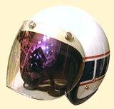 UVカット加工+傷が付きにくく割れにくい!ほとんどのジェットヘルメットに対応☆まぶしさを防ぐミラートイシールド/DAMMTRAX(ダムトラックス)バイクヘルメット用