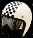 UVカット加工!ほとんどのジェットヘルメットに対応☆近未来型シールド★ヒューストンシールド/DAMMTRAX(ダムトラックス)バイクヘルメット用