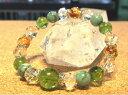 [送料無料]◆消費税込◆ブレスレット[日本製][8月の誕生石 ペリドットのブレスレット]ペリドット/エメラルド/アンバー琥珀/シトリン/水晶のグリーンに輝く至高のパワーストーンブレスレット14cm〜16cm[数珠][念珠]