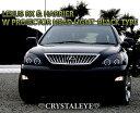 【送料無料・代引き手数料無料】クリスタルアイ/CRYSTAL EYE30系 ハリアー レクサスRX330CCFLイカリングWプロジェクターヘッドライト(ブラック)