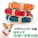 犬の首輪 犬首輪 小型犬中型犬用イタリアンレザー首輪 Mサイズ【楽ギフ_包装】いぬ くびわ