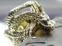 ☆黄金の龍☆ガーネットアイ 赤目竜 ゴールドドラゴンリング 指輪 和風 メンズ アクセサリー ジュエ