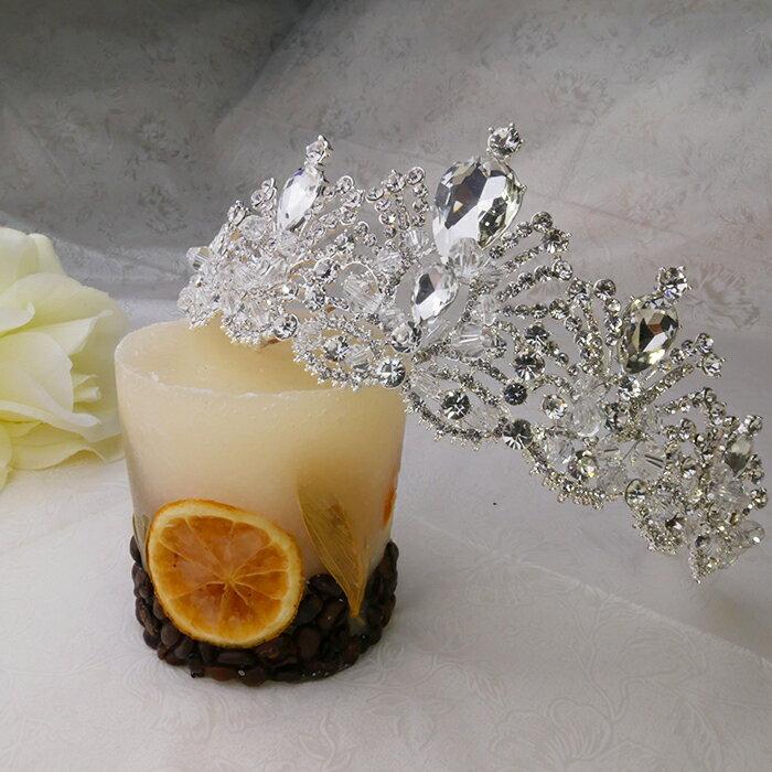 【送料無料】ティアラ tiara 大ぶりストーン ビジュー クリスタル ウエディングアクセサリー 結婚式アクセサリー ウエディングヘア