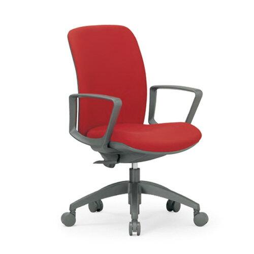 オフィスチェア / ミドルバック / サークル肘 / AICO(アイコ) / OA-2135BJ オフィスチェアー デスクワークチェアー パソコンチェアー OAチェアー いす イス 椅子 ミドルバック 肘掛付 サークル肘 大口径キャスター(φ60mm) 指や服をはさみこみにくい安心設計低い