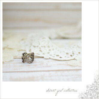 ■Flower motif ring (B-8 )※ returned goods exchange impossibility fs3gm) working under shipment ■ petit Stone