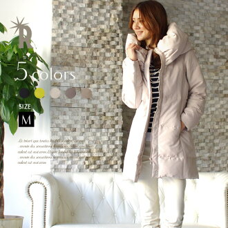 * REAL CUBE soft neck long down coat (711007) / real cube Womens coats and down jacket