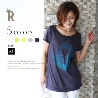 Adult color advance T shirt ☆ blur print logo T shirt (Z53249) ★ ships