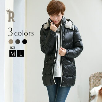 * REAL CUBE super light-weight stylish down (70755 YU) / real cube ladies coat / downcoat