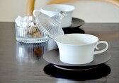 ポイント10倍◆白山陶器 BIANCO (ビアンコ) ティーカップ & ソーサー 黒炭釉 錆巻 【クッチーナ】
