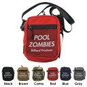 ビリヤード アパレル プールゾンビーズ Pool Zombies ショルダーバッグ 各色 / 軽量 おしゃれ 格好良い カッコイイ かわいい