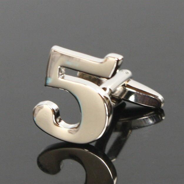 鎌倉カフス工房 数字の5カフスボタン(バラ売り)・カフリンクス メンズ cf363