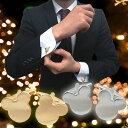 カフスボタン ミッキーマウスのゴールド&シルバーカフス (カフリンクス/cuffs/cuff】【あす楽対応】 【メール便・ネコポス対応】【コンビニ受取対応商品】【5,400円以上で送料無料】 カフス おしゃれ プレゼント 結婚式 ユニーク キャラクター ゴールド シルバー cm