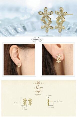 K18 ダイヤモンド ピアス bouquet ...の紹介画像3
