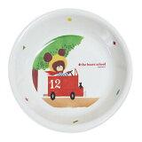 【熊的学校】《密胺孩子餐具系列》深碟子 M-1305J[关联∶关东塑料/罐普拉/餐具清洗机对应/可爱的/儿童/餐具/杰克][【くまのがっこう】《メラミンお子様食器シリーズ》深皿 M-1305J[関連:関東プラスチック/カンプラ