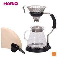 ハリオ V60アームスタンドセット VAS-8006-HSV FAM-01[関連:HARIO おしゃれ コーヒー用品 耐熱ガラス デザイン ドリッパー サーバー スタンド]