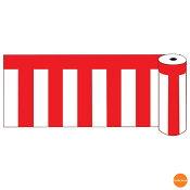 ビニール紅白幕 ロール60 600x50m 19405 YKU-02[関連:業務用 人気商品 装飾 イベント 会場 売り出し 特設会場 幕]