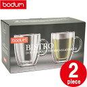 ボダム マグ bodum 10604-10 BISTRO DWG ダブルウォールグラス 2個セット 2pcs mug double wall 0.3L 10oz...