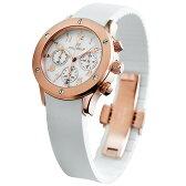 フォリフォリ FOLLI FOLLIE 時計 腕時計 フォリフォリ 腕時計 レディース FOLLIFOLLIE WT6R042SEW ラバー 時計/ウォッチ ホワイト/ピンクゴールド