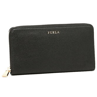 FURLA FURLA purse wallet FURLA FURLA purse wallet ladies 755244 B30 PN08 BABYLON XL ZIP AROUND ONYX