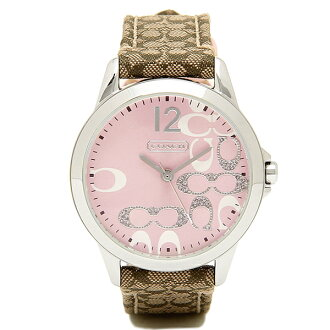 Coach watch Lady's COACH 14501621 classic NEW CLASSIC SIGNATURE new classical music signature clock / watch pink