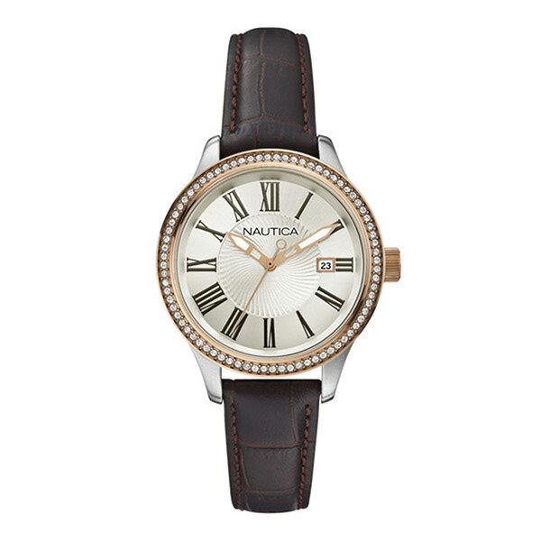 ノーティカ NAUTICA 時計 腕時計 ノーティカ 時計 レディース NAUTICA A12654M BFD101 DATE CLASSIC SPORTY DRESS デイト クオーツ 腕時計 ウォッチ ブラウン/シルバー