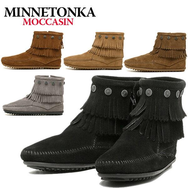 ミネトンカ MINNETONKA ミネトンカ ブーツ MINNETONKA DOUBLE FRINGE SIDE ZIP BOOT サイドジップブーツ シューズ 選べるカラー MINNETONKA ミネトンカ