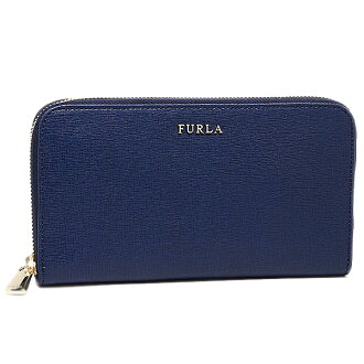 FURLA FURLA purse wallet FURLA purse FURLA 758741 PN08 B30 wallet BABYLON XL ZIP AROUND SAFFIANO long wallet NAVY