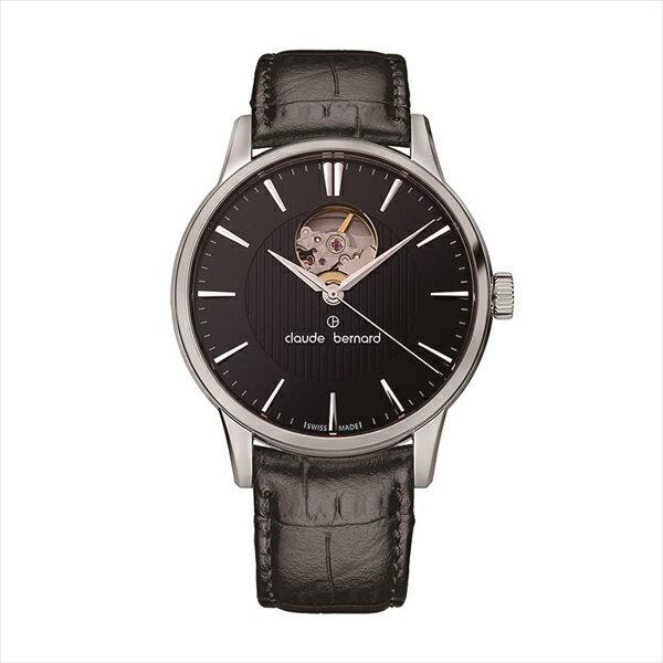 クロードベルナール Claude Bernard 時計 オンライン 腕時計 メンズ クロードベルナール 時計 メンズ Claude Bernard 850173NIN CLASSIC AUTOMATIC OPENHEART 腕時計 ウォッチ ブラック:ブランドショップ AXES