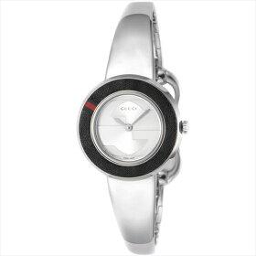 グッチGUCCI時計腕時計グッチ時計レディースGUCCIYA129515-SET-BKGBG-WHTUプレイ革ベルト&ベゼルセット腕時計ウォッチシルバー/ホワイト