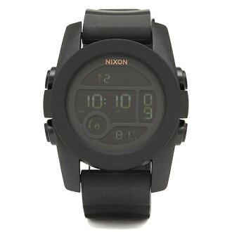 Nixon NIXON watch watches mens Nixon watch unit ladies mens NIXON A490001 A490-001 THE UNIT 40 watch / clock black