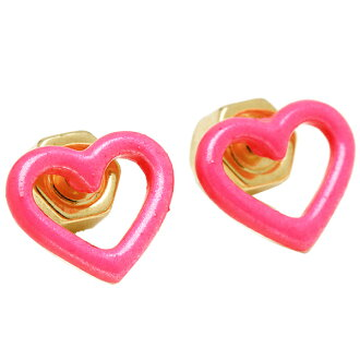 Marc by Marc Jacobs MARC BY MARC JACOBS earrings Marc by Marc Jacobs earrings MARC BY MARC JACOBS M0004216 676 OPEN HEART STUDS knockoutpink / gold