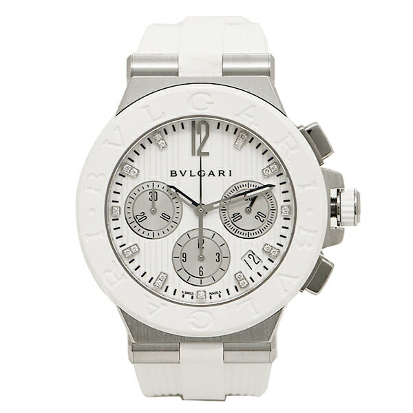ブルガリ BVLGARI 時計 腕時計 ブルガリ 時計 レディース BVLGARI DG40WSWVDCH 11 ディアゴノ 腕時計 ウォッチ ホワイト シルバー BVLGARI ブルガリ