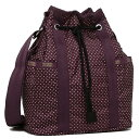 レスポートサック ポーチ LESPORTSAC 8265 D652 BUCKET BAG ポーチ BURGUNDY PIN DOT【sals】