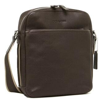 Coach COACH bags outlet F70813 SV/BR heritage leather flight bag / shoulder bag Brown 616]