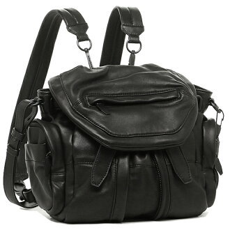 Alexander Wang bag Alexander Wang 20B0056 001 MINI MARTI WASHED COVERED ZIPS rucksack backpack BLACK
