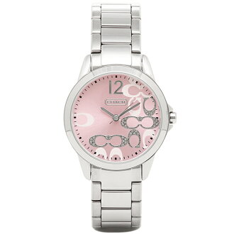 Coach watch ladies COACH 14501617 classic signature watches watch Pink / Silver