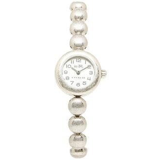 教練 14502338 鉚釘鉚釘的教練手錶女式手錶手錶銀