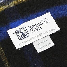 JohnstonsジョンストンズストールWA000056CASHMERETARTANSSTOLEカシミア100%大判ショールチェック柄