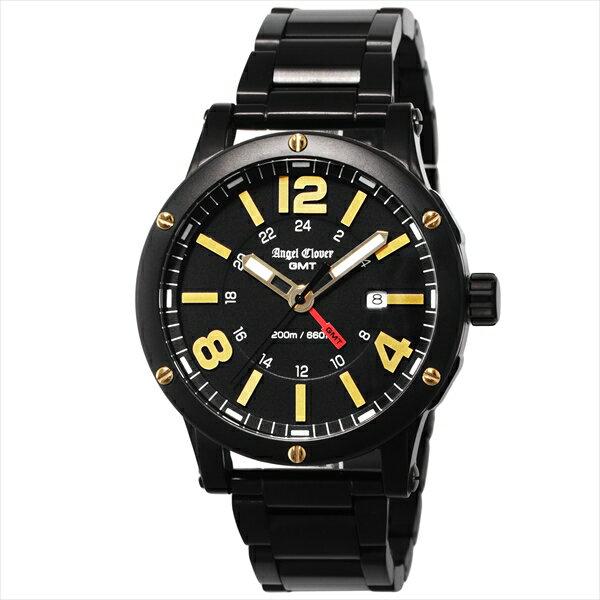 エンジェルクローバー 時計 メンズ ANGEL CLOVER エクスベンチャーGMT 腕時計 ウォッチ ブラック ANGEL CLOVER エンジェルクローバー