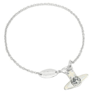 Vivienne Westwood bracelet VIVIENNE WESTWOOD BBL548/21 BETSY Betsy Bangle silver / cream