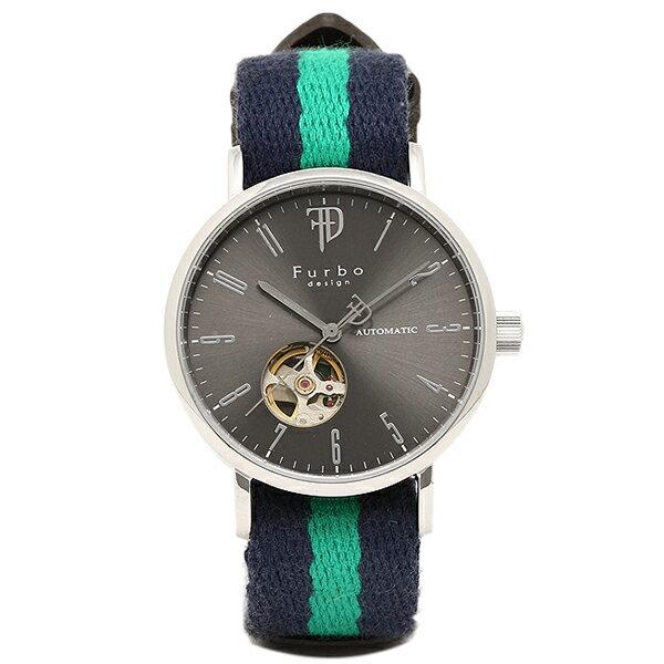 フルボデザイン 時計 メンズ Furbo design F2001SNVGR 自動巻き 腕時計 ウォッチ グレー/グリーン フルボデザイン 腕時計 Furbodesign メンズ